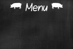 Tafel mit dem Text ` Menü ` Lizenzfreie Stockfotografie