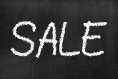 Tafel mit dem Text ` Verkauf ` Stockbild