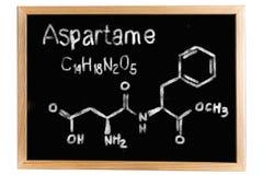Tafel mit der chemischen Formel des Aspartams vektor abbildung