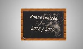 Tafel mit einem Text auf dem Herbst von 2019 auf einem weißen backgrou Lizenzfreie Stockbilder