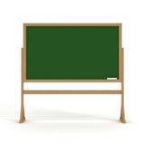 Tafel mit einer Kreide auf einem weißen Hintergrund. stock abbildung
