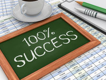 Tafel mit Erfolg Stockbild