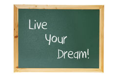 Tafel mit Inspiration-Konzept Lizenzfreies Stockbild