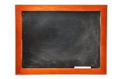 Tafel mit Kreide (mit Ausschnittspfad) Stockfotos