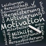 Tafel mit Motivation Stockbilder