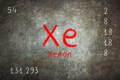 Tafel mit Periodensystem, Xenon Stockfoto