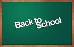 Tafel mit Text zurück zu Schule Lizenzfreie Stockbilder