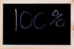 Tafel mit weißem Kreideschreiben Stockfotos