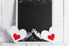 Tafel- und Valentinstagkarten Stockfotografie