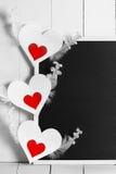 Tafel- und Valentinstagkarten Stockbild