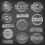 Tafel-Vektor-Werbungs-Stempel Lizenzfreies Stockbild