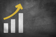 Tafel-Wachstums-Diagramm Stockfotografie