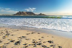 Tafelberg in Cape Town stockbilder