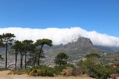 Tafelberg gesehen vom Signal-Hügel, Cape Town, Südafrika Lizenzfreie Stockfotos