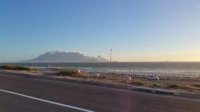 Tafelberg Südafrika vom blouberg Lizenzfreies Stockfoto