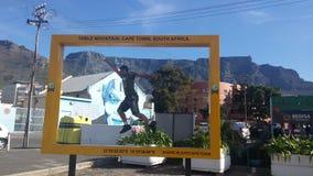 Tafelberg vom Hafen lizenzfreie stockfotografie