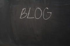 Tafelhintergrund und Blogtext Schwarzer Tafelrahmen mit Kopienraum Lizenzfreies Stockbild