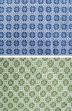 Tafelkleed van bloemenpatroon Stock Afbeelding