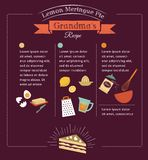Tafelmahlzeitrezeptschablonen-Vektordesign Stockfotos