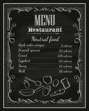 Tafelrahmen-Weinlesemenü L des Tafelrestaurants Hand gezeichnetes Stockfotos