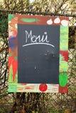 Tafelschrift menu Royalty Free Stock Photos
