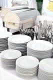 Tafelsilber und Dishware Stockfotos