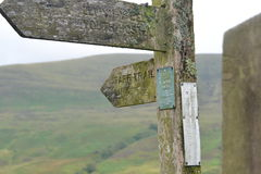 Taff trail sign Royalty Free Stock Image