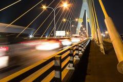 Taffic på bron Royaltyfria Foton