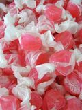 Taffy. A close-up view of salt water taffy royalty free stock photography