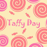 Taffy day decoration Stock Photos