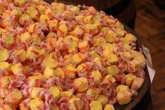 Taffy giallo ed arancio dell'acqua salata Fotografia Stock Libera da Diritti