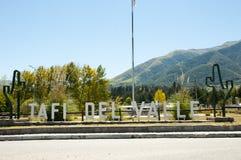 Tafi Del Valle Sign - Tucuman - Argentinien Lizenzfreie Stockfotografie