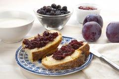 Tafli e marmellata Fotografia Stock