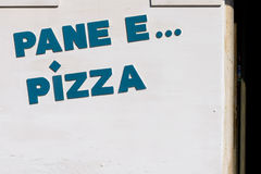 Tafli e pizza Zdjęcie Stock