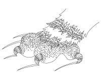 Tafsa av katten Zen Tangle Pawprint med jordluckrare Royaltyfri Fotografi
