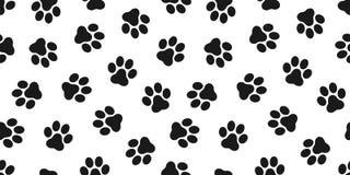 Tafsa den sömlösa modellhunden tafsar katten tafsar isolerad bakgrund för bulldoggvektorn tapeten royaltyfri illustrationer