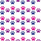 Tafsa det sömlösa trycket Spår av katt- och hundtextilmodellen Fotografering för Bildbyråer
