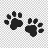 Tafsa tryckvektorsymbolen Hund- eller kattpawprintillustration angus vektor illustrationer