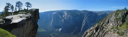Taft Point. Panoramic view on Yosemite Valley from Taft Point Stock Images
