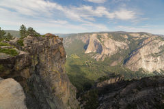 Taft Point, Yosemite National Park, Califormia. View from above on Yosemite valley from Taft Point. Sierra Nevada mountains, Yosemite National Park, California Royalty Free Stock Photos