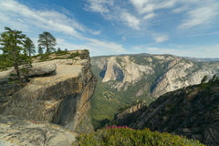 Taft Point, Yosemite National Park, Califormia. View of Yosemite valley from Taft Point. Sierra Nevada mountains, Yosemite National Park, California Stock Images