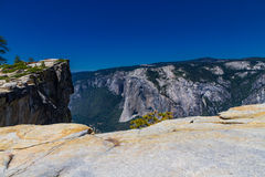 Taft Point, Yosemite National Park. Taft Point in Yosemite National Park with views of El Capitan on sunny day Royalty Free Stock Image