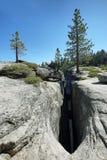 Taft Point in Yosemite Park Stock Image