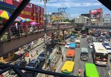 Taft weg-EDSA kruising in Pasay, Manilla Stock Foto