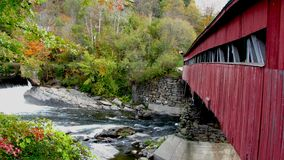 Taftsville abgedeckte Brücke Stockbild