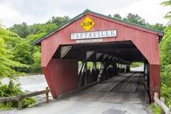 Taftsville Bridge before storm damage Royalty Free Stock Image
