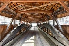 Taftsville täckte bron - Vermont royaltyfri foto