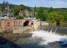 Taftsville Vermont Hydroplant nach Irene Lizenzfreies Stockfoto
