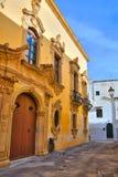 Tafuri palace. Gallipoli. Puglia. Italy. Stock Photography