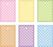 Tag. Set of labels for scrapbook Stock Photography